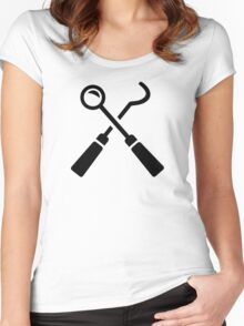 Dentist tools Women's Fitted Scoop T-Shirt