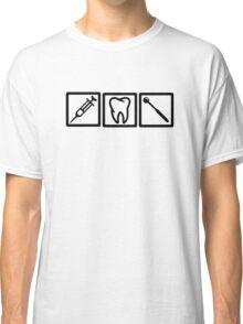 Dentist icons symbols Classic T-Shirt