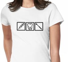 Dentist icons symbols Womens Fitted T-Shirt