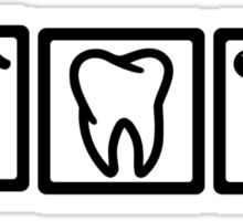 Dentist icons symbols Sticker