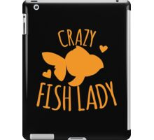 Crazy Fish lady with cute little goldfish iPad Case/Skin