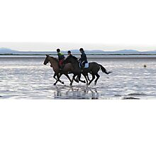 Beach riding Photographic Print
