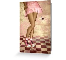 Pink Girl * Wall Art Greeting Card