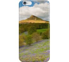 Roseberry Topping and Bluebells iPhone Case/Skin