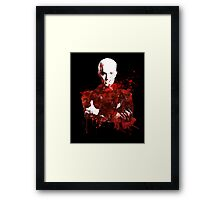 Splatter Spike Framed Print