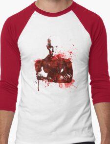 Splatter Spike Men's Baseball ¾ T-Shirt