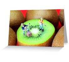 Band Show On Kiwi Fruits Greeting Card