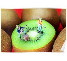 Band Show On Kiwi Fruits Poster