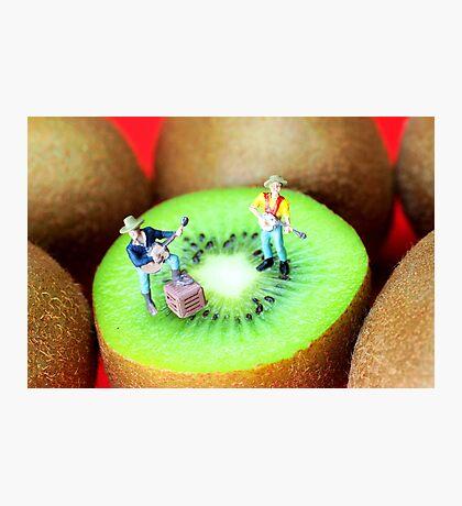 Band Show On Kiwi Fruits Photographic Print