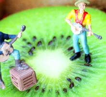 Band Show On Kiwi Fruits Sticker