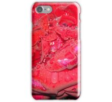 RAINDROPS ON RED ROSE iPhone Case/Skin