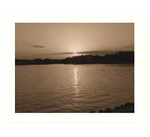 Sunset Over Lake Murray Outside Columbia, SC Art Print
