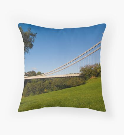 Clifton Bridge Throw Pillow