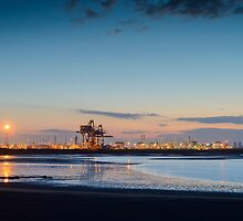 Night at South Gare by Michael Stubbs