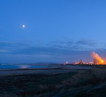 Moon and Steel Works by Michael Stubbs