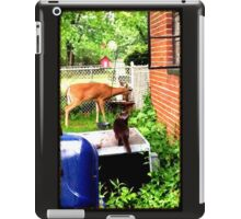 THE BACK YARD VISITORS iPad Case/Skin