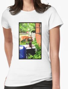 THE BACK YARD VISITORS Womens Fitted T-Shirt