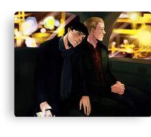 Sherlock Cab Ride Canvas Print