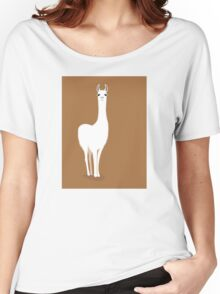 STANDING LLAMA #1 Women's Relaxed Fit T-Shirt