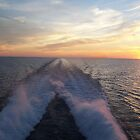 Lake Michigan Ferry Ride Sunset by SandoPhotos