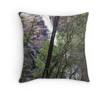 the top of the lower Dip Falls, Mawbanna Throw Pillow