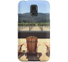 Wine Sipping and Sitting Samsung Galaxy Case/Skin