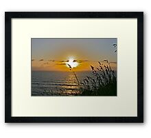 Horizon Sunset Framed Print
