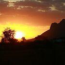Sunset over Africa 2014 by Maureen Clark