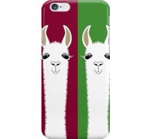 LLAMA PORTRAITS - RED & GREEN iPhone Case/Skin