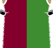 LLAMA PORTRAITS - RED & GREEN Sticker