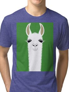 LLAMA PORTRAIT #2 Tri-blend T-Shirt