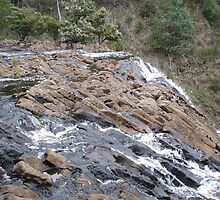 standing on top of the upper Dip Falls - long long way to the bottom! by gaylene