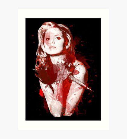 Splatter Buffy Art Print