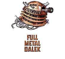 Full Metal Dalek | Doctor Who | w/ Title Photographic Print