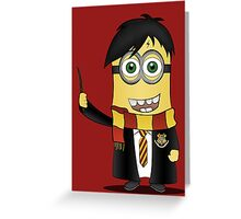 Minion Harry Potter Greeting Card