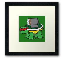 Turtle Power - Raph Framed Print