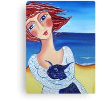 Dog Beach Canvas Print