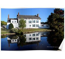 House Reflection On The Water | Babylon, New York  Poster
