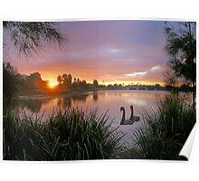 Sunrise Lake Eden Poster