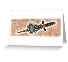 Heart & Dagger Greeting Card