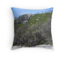 Waterloo Bay Rockface Throw Pillow