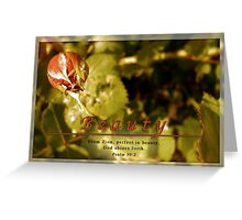Perfect Beauty Greeting Card