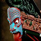 This would scare any enemy !...........Bow of Maori Waka. by Roy  Massicks