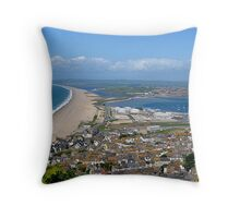 Chesil Beach, Dorset, England Throw Pillow