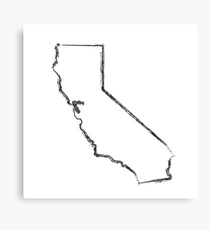 California State Ink Brush  Canvas Print