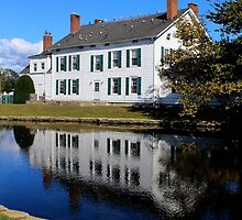 House Reflection On The Water | Babylon, New York by © Sophie W. Smith