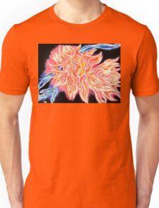 iSun 2 Electric Glowing Sun Rays Abstract Drawing Design Unisex T-Shirt