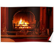 Christmas Night Firelight Poster