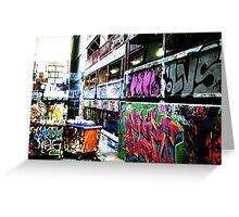 Melbourne Graffiti 2 Greeting Card