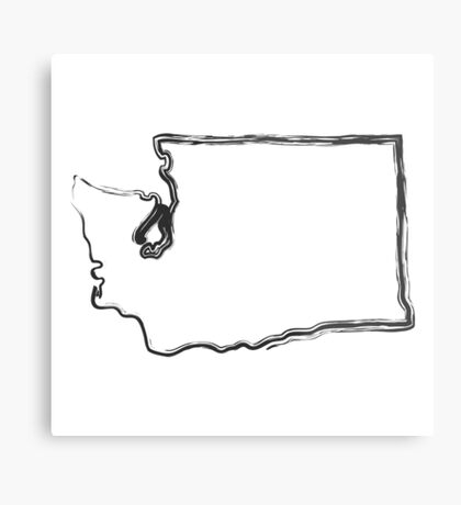 Washington State Metal Print